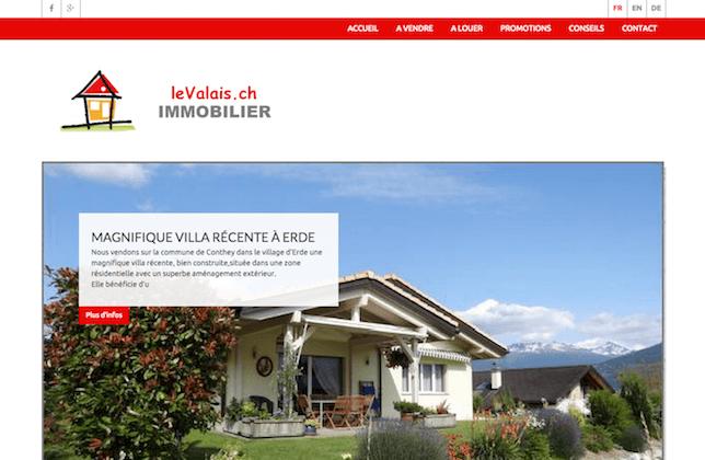 Le valais immobilier nouveau site internet publimmo for Immobilier site