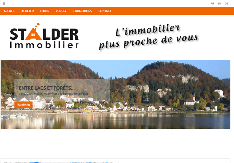 Stalder immobilier nouveau site publimmo for Immobilier site
